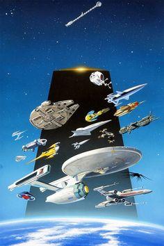 Naves espaciales de la ciencia ficción.... Preciosas
