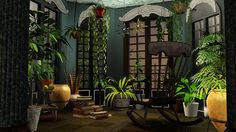 Beautiful plant decor created by simmers in the Sims 3