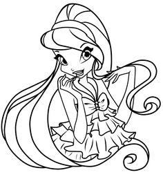 BLOOM coloring pages  Bloom the winx club fairy  Coloring Pages