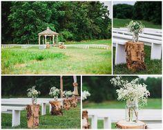 Beautiful outdoor ceremony idea!