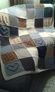 Crochet Throw Pattern, Crochet Wool, Crochet Patterns, Easy Crochet, Crochet Ideas, Diy Yarn Blankets, Knitted Blankets, Knitted Afghans, Knitted Baby