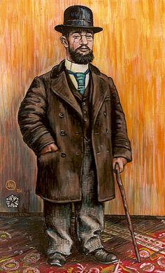 Toulouse Lautrec Self Portrait 1882-83 oil on board 40x32cm. Musee Toulouse - Lautrec ...