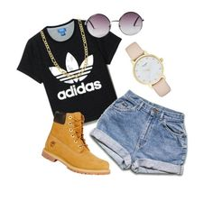 """Casual"" by katrenn on Polyvore featuring adidas, Monki, Timberland, Kate Spade and Fremada"