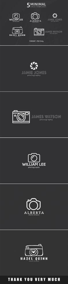 5 free minimal photography logos