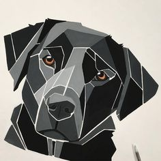 No photo description available. Dog Quilts, Barn Quilts, Geometric Drawing, Geometric Art, Polygon Art, Wooden Wall Art, Wood Wall, Dog Crafts, Hanging Wall Art