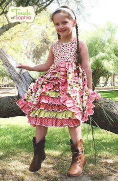 Irelyn's PeekABoo Ruffle Dress PDF Pattern 12 by FairytalePatterns, $15.00