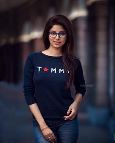 Image may contain: 1 person, standing and eyeglasses Girl Photography Poses, Fashion Photography, Formal Shirts For Men, Cute Girl Poses, Western Wear For Women, Stylish Girl Images, Amai, Indian Models, Western Outfits