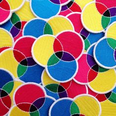 CMYK Embroidered Iron On Patch - CMYK Patch