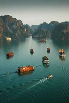 Ha Long Bay, Vietnam. It's possibly the most photogenic place on earth.