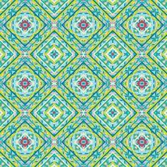 Topography Pattern Yellow Art Print