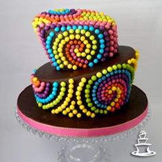 Let them eat cake :) Cakes To Make, Cakes And More, How To Make Cake, Cupcake Birthday Cake, Cupcake Cakes, Pretty Cakes, Cute Cakes, Swirl Cake, Fantasy Cake