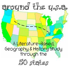 Around the USA Elementary Homeschool Unit Study - uses living literature to highlight events, people and facts