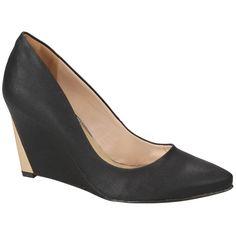 #Scarpin Via Marte Anabela Preto e Dourado #Shoes #Golden