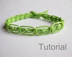 Pattern bracelet macrame pdf tutorial pink knotted adjustable