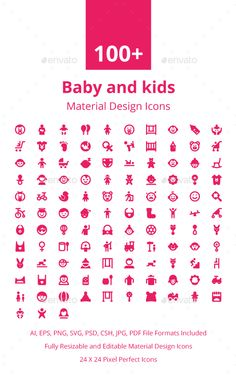 100+ Baby and Kids Material Icons. Download here: https://graphicriver.net/item/100-baby-and-kids-material-icons/17673265?ref=ksioks