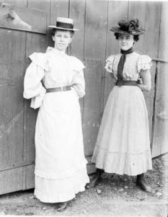 Young ladies in Victorian dress :: Consortium of Rhinebeck History