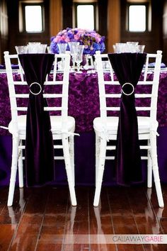 purple chair sashes for weddings chairman stool 84 best wedding images chairs decorated the reception
