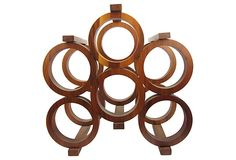 I SOOOO want this if the person who put this item on hold decides against it. Love it! --- Mid-Century Modern Teak Wine Rack on OneKingsLane.com