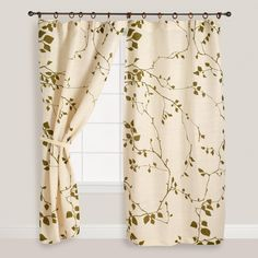 i love this panel, but it's never long enough.  have your seamstress add fabric to create the right length.  or just purchase extra drapes and use that fabric to do it.  Lyrical Branches Jute Curtain   World Market
