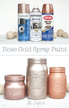 Rose Gold Spray Paint Lets talk rose gold spray paint colors! Rose Gold Spray Paint Lets talk rose gold spray paint colors! Spray Paint Colors, Gold Spray Paint, Spray Painting, Rose Gold Metallic Paint, Painting Tricks, Metallic Colors, Teal Colors, Deco Rose, Ideias Diy