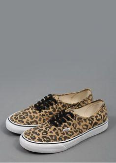 9b2f57f2c01 Vans Authentic (Van Doren) Leopard Print Shoes - Leopard