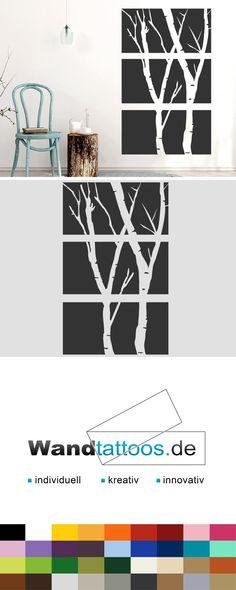 Wandbanner Birken als Idee zur individuellen Wandgestaltung. Einfach Lieblingsfarbe und Größe auswählen. Weitere kreative Anregungen von Wandtattoos.de hier entdecken!