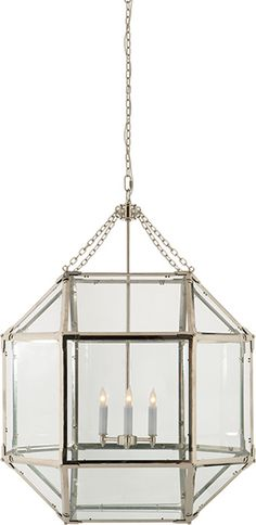 """MORRIS LARGE LANTERN Height: 30 1/4"""" * Width: 23 1/4"""" Canopy: 4 3/4"""" Round $1050 each for gilded iron finish"""