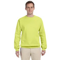 Men's Safety 50/50 Nublend Fleece Big and Tall Crew-neck Sweater