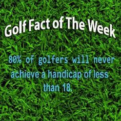 Golf is indeed a tough game #golffactoftheweek