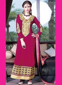 Pink Georgette Salwar Kameez ,Indian Dresses