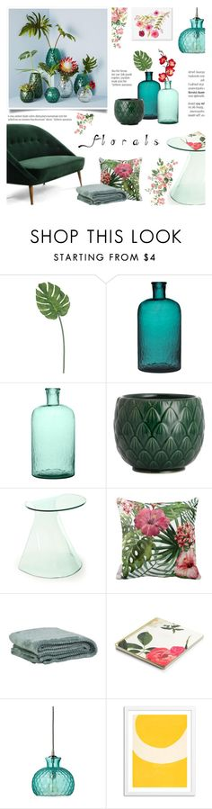 """""""Florals"""" by c-silla ❤ liked on Polyvore featuring interior, interiors, interior design, home, home decor, interior decorating, H&M, Dot & Bo, Kate Spade and Home Decorators Collection"""
