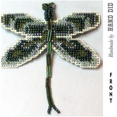Dragonfly Cross Stitch and Beaded Pin