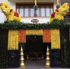 Desi Wedding Decor, Wedding Stage Decorations, Backdrop Decorations, Flower Decorations, Home Flower Decor, Altar, Housewarming Decorations, Entrance Decor, Wedding Entrance