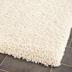 Loft rug! @Overstock - This power-loomed cozy solid shag rug offers luxurious comfort and easy-to-design styling.http://www.overstock.com/Home-Garden/Cozy-Solid-Ivory-Shag-Rug-4-x-6/5953865/product.html?CID=214117 $74.79