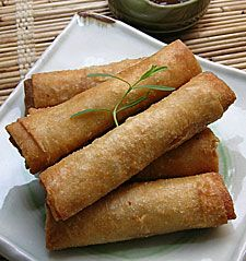 Lumpia! I make 1000's of these for our summer time guests. Always a hit.