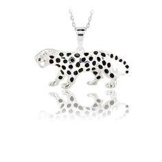 14K Solid Gold Jaguar Pendant Necklace #BeeloGold #Pendant