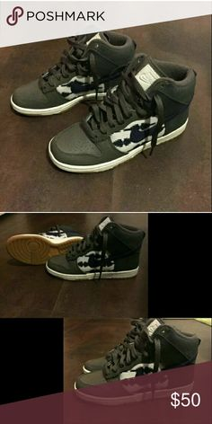 NIKE AZTEC HIGH TOP SHOES Super cute Aztec print Nike high tops. Great condition! Size 6 Nike Shoes Athletic Shoes