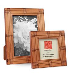 4 x Heller House Frame: One of Frank Lloyd Wright's art glass windows designed for the Isidore Heller House, Chicago, Illinois, is the inspiration for these wooden picture frames. Made of birch wood in light cherry finish. Wooden Picture Frames, Personalized Wall Art, Frank Lloyd Wright, Home Wall Decor, Window Design, Memorable Gifts, Art World, Glass Art, Cool Things To Buy