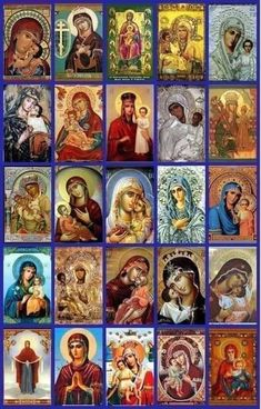 Angels And Demons, Orthodox Icons, Ikon, Christian, Baseball Cards, Painting, Byzantine, Syria, Mary Jesus Mother