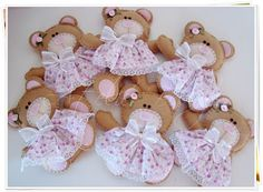 Girly Bear Keychain