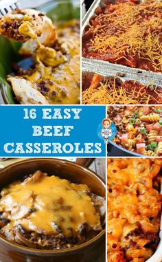 Don't miss these easy ground beef casserole recipes - perfect for a cold winter's evening! Beef Casserole Recipes, Meat Recipes, Hamburger Recipes, Crockpot Recipes, Casserole Dishes, Dinner Recipes, Cooking Recipes, Dinner Ideas, Hamburger Ideas
