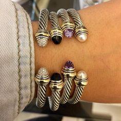 David Yurman cable bracelets Loving these David Yurman bracelets! Jewelry Accessories, Fashion Accessories, Jewelry Design, Fashion Jewelry, Jewelry Ideas, Body Jewelry Shop, Candy Jewelry, Do It Yourself Fashion, Sapphire Bracelet