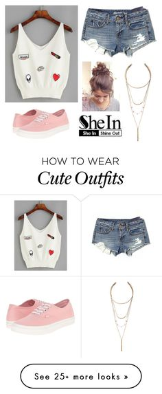 """""""Appliqué"""" by ajonas95 on Polyvore featuring American Eagle Outfitters, Vans and LULUS"""