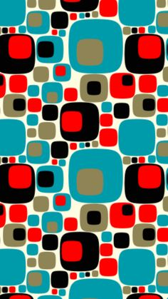 Pattern Leather Nunchuck retro geometric print / pattern in taupe, blue, red, brown/black Geometric Patterns, 60s Patterns, Geometric Art, Print Patterns, Walpapper Vintage, Motif Vintage, Vintage Ideas, Vintage Designs, Surface Pattern Design