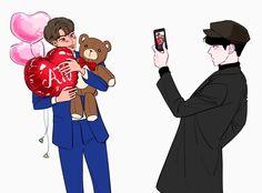 Sekai Exo, Ushijima Wakatoshi, Exo Couple, Exo Fan Art, Short Comics, Kpop, Drarry, Chanbaek, My King