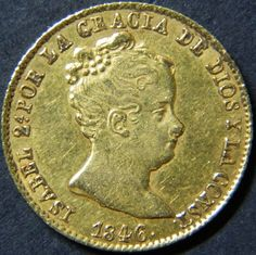 Isabel Ii, Coin Collecting, Gold Coins, Stamps, Personalized Items, The World, Seals, Postage Stamps