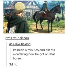 attack on titan funny | Via Merodii Tachibana also I am comparing him to…
