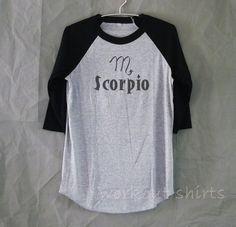Scorpio Shirt Astrologie Baseball t-shirt oder von WorkoutShirts