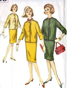 1960s Teen Skirt and Jacket Simple to Make by MissBettysAttic, $8.00