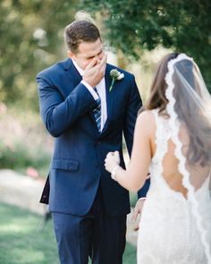 First Look. San Ysidro Ranch Wedding. Santa Barbara, CA. Josh Elliott Photography